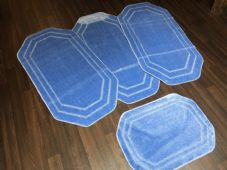 ROMANY WASHABLES NEW GYPSY SET OF 4PCS LIGHT BLUE MATS NON SLIP TOURER SIZE